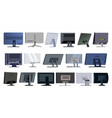 monitor set modern monitors laptop vector image vector image