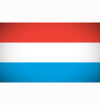 National flag of Luxembourg vector image vector image