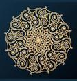 ornamental decorative rosette design element vector image vector image