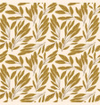 seamless pattern with image leaves vector image vector image