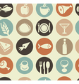 Seamless pattern with restaurant and food i vector | Price: 1 Credit (USD $1)