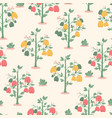 seamless pattern with yellow red and green vector image vector image