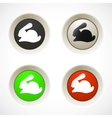 set colorful plastic buttons with rabbit vector image vector image