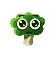 Shocked Broccoli Emoji vector image