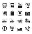 Silhouette Online shop icons vector image vector image