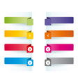 simple colorful banners as bookmarks vector image vector image