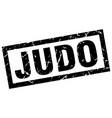 square grunge black judo stamp vector image vector image
