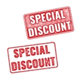 Stamps Special Discount textured imprints vector image vector image