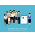 Stand-up meeting vector image