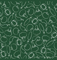 summer chalk contour vegetable seamless pattern vector image