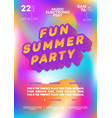 summer party poster for electronic music fest vector image