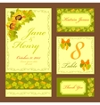 Sunflower Wedding card set Printable vector image