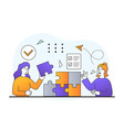 teamwork and success concept vector image vector image