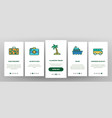 tourism and travel around world onboarding vector image vector image