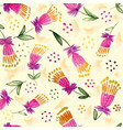 tulips seamless repeat pattern tile vector image