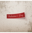 Valentines Day realistic red Ribbon vector image