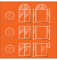 windows icon isolated on a orange background vector image vector image