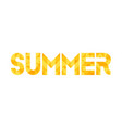 yellow word summer vector image