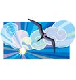 Black sea-bird vector image