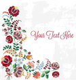 Editable Floral Greeting Card vector image