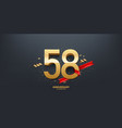 58th year anniversary background vector image vector image