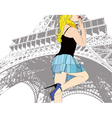 A Kiss from Paris vector image vector image