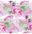 Abstract camellia pattern vector image vector image