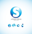 Alphabet letter s sphere logo icon set vector image vector image