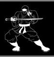 art ninja vector image vector image