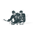 athletes with physical disabilities - ice hockey vector image vector image