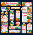 back to school autumn study posters banners vector image vector image