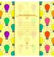background with light bulb in flat style vector image