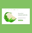 beautiful eco web site template in paper style vector image