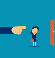 being fired manager finger showing exit door vector image vector image