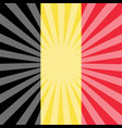 belgian national day flag belgium rays from vector image vector image