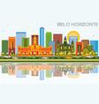 belo horizonte brazil skyline with color vector image vector image