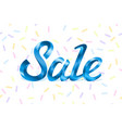 blue metal lettering sale price offer deal labels vector image