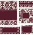 burgundy open frame set vector image vector image
