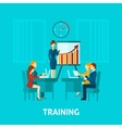 Business Training Flat Icon vector image