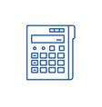 calculator line icon concept calculator flat vector image vector image