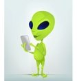 Cartoon Character ALIEN 034 CS5 vector image vector image