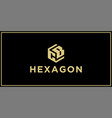 cb hexagon logo vector image vector image