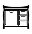 changing table vector image