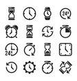 clock time chronometer pictograms vector image