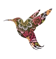 Colibri ornamental tattoo vector image
