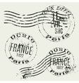 collection french vintage stamps vector image