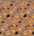 colorful fresh bread seamless pattern vector image