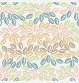 colorful seamless pattern with elegant leaves vector image