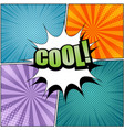 comic cool wording template vector image vector image