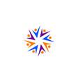community logo teamwork logo social logo vector image